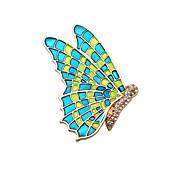 mulheres moda esmalte elegante broche de borboleta de metal