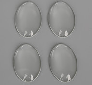 Beadia 10Pcs 20x30mm Flat Oval Clear Glass Cabochon For Earring Bracelet Necklace Jewelry Making
