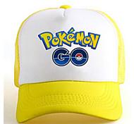 Pocket Little Monster Go Yellow-White Adjustable Tennis Cap