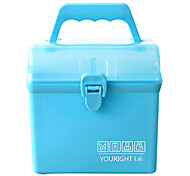A083Portable Household Plastic Medicine Box Rectangular Storage Box