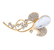 Fashion Alloy Glass Rhinestone Brooches for Wedding