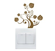 AYA™ DIY Wall Stickers Wall Decals, Tree Design Type PVC Switch Panel Stickers 13*12cm