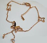 Gioielli per corpo/Collana per gambe Catena corpo / catena della pancia Strass stile della Boemia Oro rosa 1 pezzo