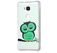 Sleeping Owl on the Branch Pattern Grainy Inner Shockproof Air TPU Case for Huawei Honor Play 5X / Honor 5X
