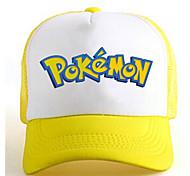 Pocket Little Monster Letter Yellow-White Adjustable Tennis Cap