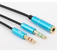 YONG WEI® Audio jack de 3.5mm-Audio jack de 3.5mm 0,3 m (1 pie)