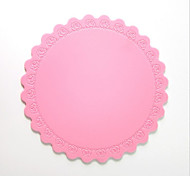 Medium Thick Silicone Insulation Pad Coaster Rose Bowl Pad Heat Pad A-08 5Pcs