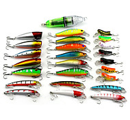 0.21kg/Set 25Pcs Multiple Specification Lures Fishing Tackle Fishing Light Kit Super Mix Baits Lures