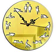 Diy Mirror  Clock Creative Personality Living Room