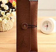 Leather Retro High-Capacity Pencil Tower Classic Suede Leather Stationery Bags Stationery Kits 35G