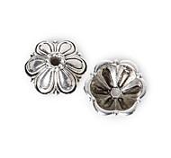 16pcs beadia antiguos granos de la aleación de plata de la flor granos del espaciador 11x5mm&perlas casquillo