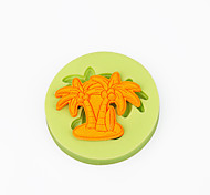 Summer Beach Palm Tree Cupcake Decoration Silicone Fondant Mold Sugarcraft Tools Polymer Clay Chocolate Candy Making