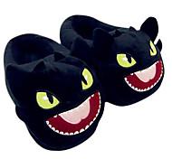 Zapatillas Característica Vellón de Coral Zapatos Kigurumi Pijamas ropa de noche de los animales Negro Un ColorHalloween / Navidad / Día