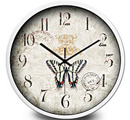 Creative Cartoon Butterflies Fly Children Home Furnishing Jewelry Quartz Wall Clock