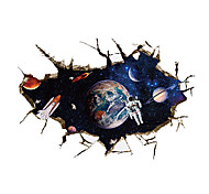 3D Wall Stickers Wall Decals Style Outer Space Astronauts PVC Wall Stickers