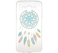 Blue Campanula Pattern TPU Soft Case Phone Case for Samsung Galaxy J5(2016)