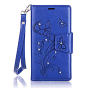 Butterfly Flower Diamond Flip Leather Cases Cover For Samsung A Series Prime Strap Wallet Phone Bags