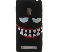 Smiling Face Painting Pattern TPU Soft Case for Asus Zenfone 5