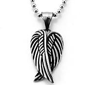 Vintage Wings Necklace Titanium Oxide Black Pendant
