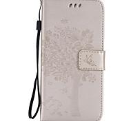 Body collant Support de Carte / Strass / résister Couleur unie Cuir PU Doux Card Holder Couverture de cas pour Samsung GalaxyS7 edge / S7