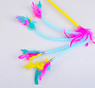 Dogs / Cats Toys Interactive / Teaser / Feather Toy Rope Plastic Multicolor