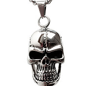 Z098 Personality, Han Edition Non-Mainstream, Tide Male Skulls Titanium Steel Pendant Necklace (Excluding Chain)