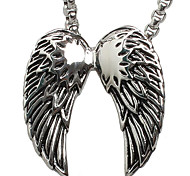 Angel Wings Titanium Steel Necklace Pendant (Excluding Chain)