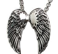 Engelsflügel Titan Stahl Halskette (ohne Kette)