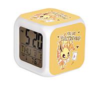 Cartoon Pet Colorful Luminous Alarm Clock-3#