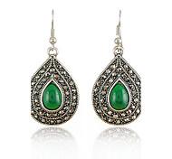 Women's Drip Shape Vintage Gem Diamond Fashion Drop Earrings