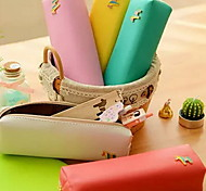 The pony Color Leather Bag Sweet Candy Color Contracted Stationery Bags