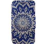 SZKINSTON® Blue Sun Flowers Pattern Full Body Leather with Stand for Huawei P9/P9 Plus/P9 Lite/G9 and Huawei Honor 4X/3C