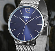 TOMORO Unisex Dress Watch Fashion Watch Wrist watch / Quartz Japanese Quartz Stainless Steel Band Casual Silver