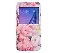pioen patroon pu lederen telefoon geval voor Samsung Galaxy S4 / S5 / s6 / s4 mini / S5 mini