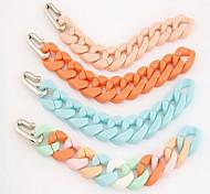 Acrylic Chain Bracelet Rainbow Color