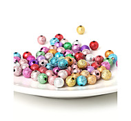 beadia granos de acrílico de 8 mm de plata de oro perlas de plástico 29g (aprx.100pcs)