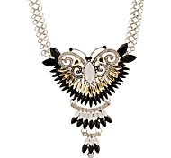 European Butterfly Rhinestone Necklace Inlaid Retro