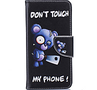 Blue Bear Pattern Card Phone Holster for Samsung Galaxy G530/J3/J5/J510
