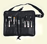 PU-Make-up-Pinsel Tasche Falttasche Vollleder Reißverschluss handgefertigt