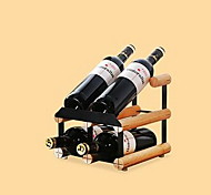 Solid Wood Wine Rack European Modern Inverted Bottle Rack