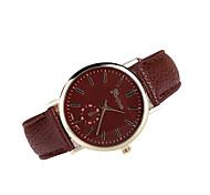 Damen Kleideruhr Japanischer Quartz Armbanduhren für den Alltag Leder Band Armbanduhr / Armband Schwarz / Weiß / Braun / Mehrfarbig