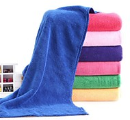 "1 Piece Microfiber Hand Towel 11"" by 27"" Solid Pattern Super Soft High Adsorption Capacity"