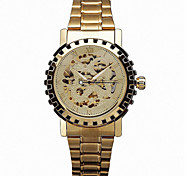 WINNER® Men's Watch Auto-Mechanical Skeleton Hollow Engraving Golden Watch Cool Watch Unique Watch Fashion Watch