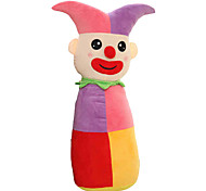 Cylindrical Circus Clown Plush Toy Doll Cute Cartoon Pillow Gift - Small Purple 50cm
