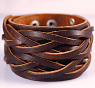 Widen Genuine Leather Jewelry Punk Wristband Handmade Classic Vintage High Quality Bracelets