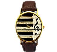 Mode unisex Uhren Vintage Piano Musiknote analoge Quarzuhr
