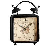 estilo europeu ferro do vintage despertador mesa