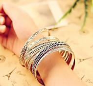 Vintage Style Silver Bangle Bracelet Jewelry Set (7*7cm)