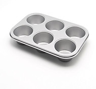 Us 6 With Large Glass Baking Bread Cake Mold Baking Oven Silver Coating