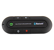 Bluetooth Handsfree Car Kit Clipped On Car Sun Visor, Bluetooth Car Kit Can Support Two Phones Simultaneously